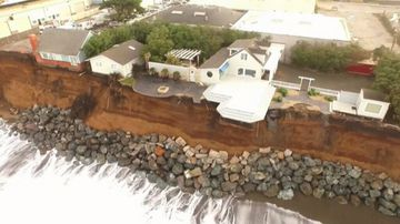 Residents in a stretch of cliff top homes in Pacifica have been told to leave their homes as erosion threatens to pull the structures into the sea