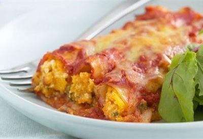 Pumpkin, ricotta and sage cannelloni