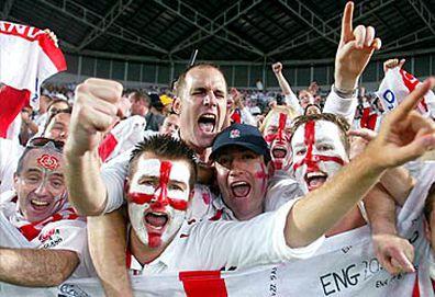 England fans celebrating (Getty)