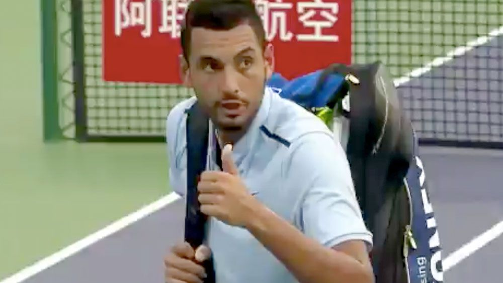 Kyrgios in Shanghai walk-off