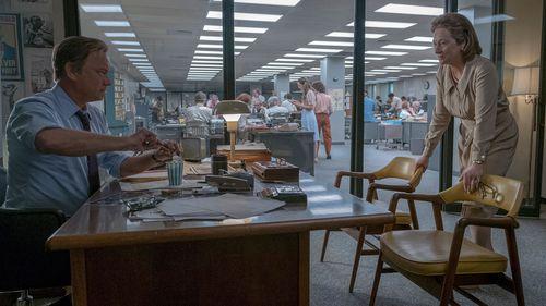 Tom Hanks and Meryl Streep in The Post. (AAP)