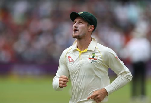 Cameron Bancroft was found to have used the electrical tape to rough up the ball during play in the third test. (AAP)