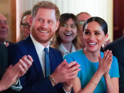 Meghan and Harry attend the Endeavour Fund Awards in London in March 2020.