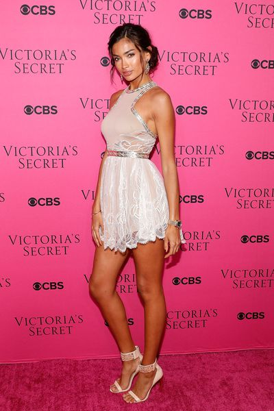Kelly Gale in Aadnevik at the Victoria's Secret viewing party in New York.