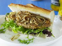 Tarragon and mustard steak sandwiches