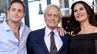 Cameron Douglas, Michael Douglas and Catherine Zeta Jones in 2018.