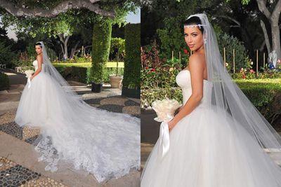 Three Times A Bride Kim Kardashian S Weddings Compared 9celebrity