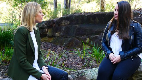 Madeline with Allison Langdon. (60 Minutes)