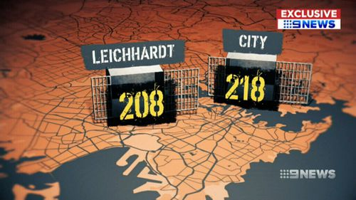 Leichhardt in Sydney's inner-west has more than 200 offenders on parole. (9NEWS)