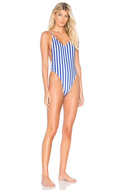 """<p><a href=""""http://www.revolveclothing.com.au/r/DisplayProduct.jsp?aliasURL=kendall-kylie-x-revolve-classic-one-piece-in-royal-stripe/dp/KENR-WX74&amp;d=F&amp;currency=AUD&amp;countrycode=AU&amp;gclid=EAIaIQobChMIm7q4xoSx2gIV3gQqCh0XiQXqEAYYASABEgKIr_D_BwE&amp;product=KENR-WX74"""" target=""""_blank"""">Classic One Piece</a>, $177.73</p>"""