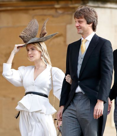 Prince Ernst August and Princess Ekaterina of Hanover at Eugenie wedding