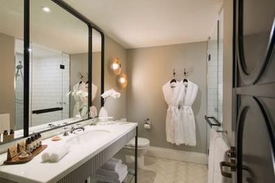 Mayfair Hotel bathrooms, Adelaide.