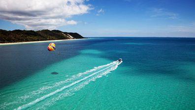 Tangalooma parasailing