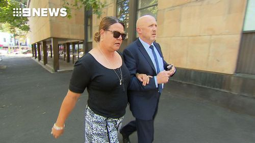 Sarah Johnston arrived at court during the trial.