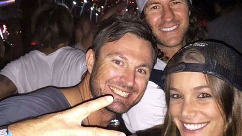 Luke Hession, centre, pictured with his brother Aaron and his wife Ashleigh.