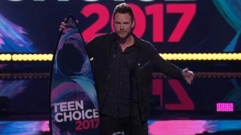 Chris Pratt accepts Choice Movie Actor: Sci-Fi at the 2017 Teen Choice Awards