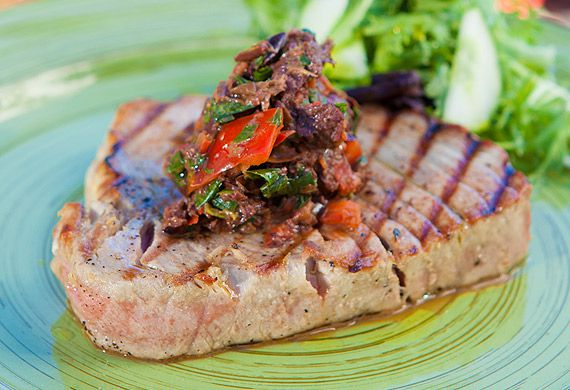 Zoe Bingley-Pullin's grilled tuna with tapenade