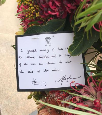 Prince Harry's handwritten note to veterans