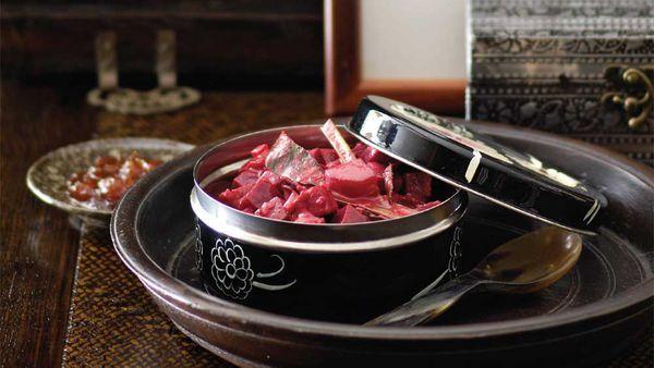 Peter Kuruvita's Beetroot curry. Image: Gourmet Traveller