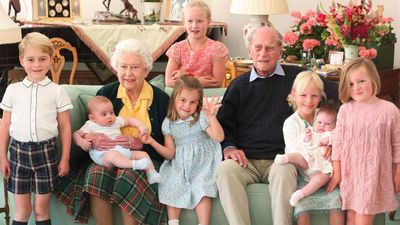 Prince Philip surrounded by great-grand children