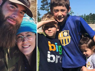 David Eason, Jenelle Evans and her three kids,