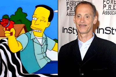 """<B>Appeared in:</B> 'Homer's Phobia' (1997).  Homer, who likes his beer cold, his TV loud and his homosexuals fa-<I>laming</I>, is horrified to learn that his new pal John — voiced by John Waters — is gay. <br/><br/><B>Best line:</B> """"Zzzzzzaapp!"""""""