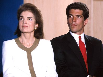 Jackie Kennedy Onassis with son John F Kennedy Jr.