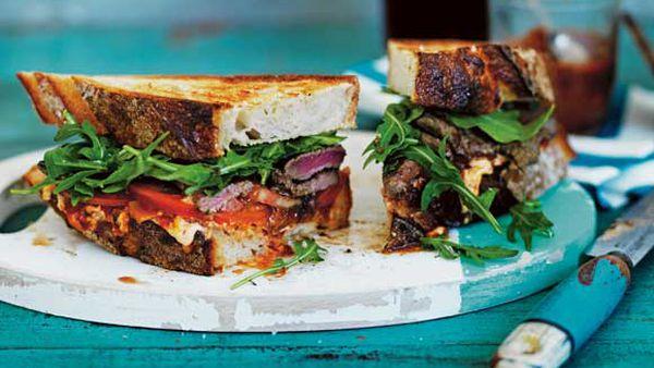 Steak sandwich from the Blue Ducks