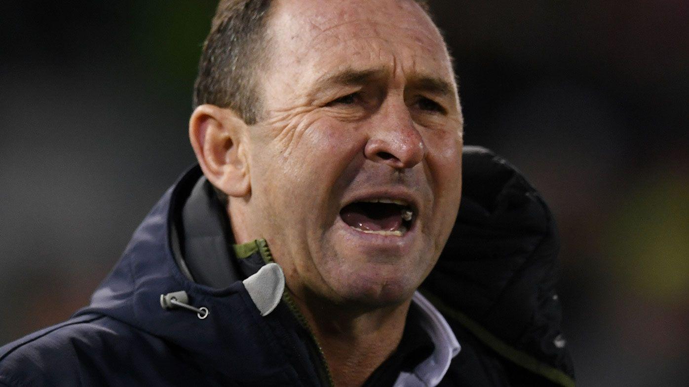Canberra coach Ricky Stuart