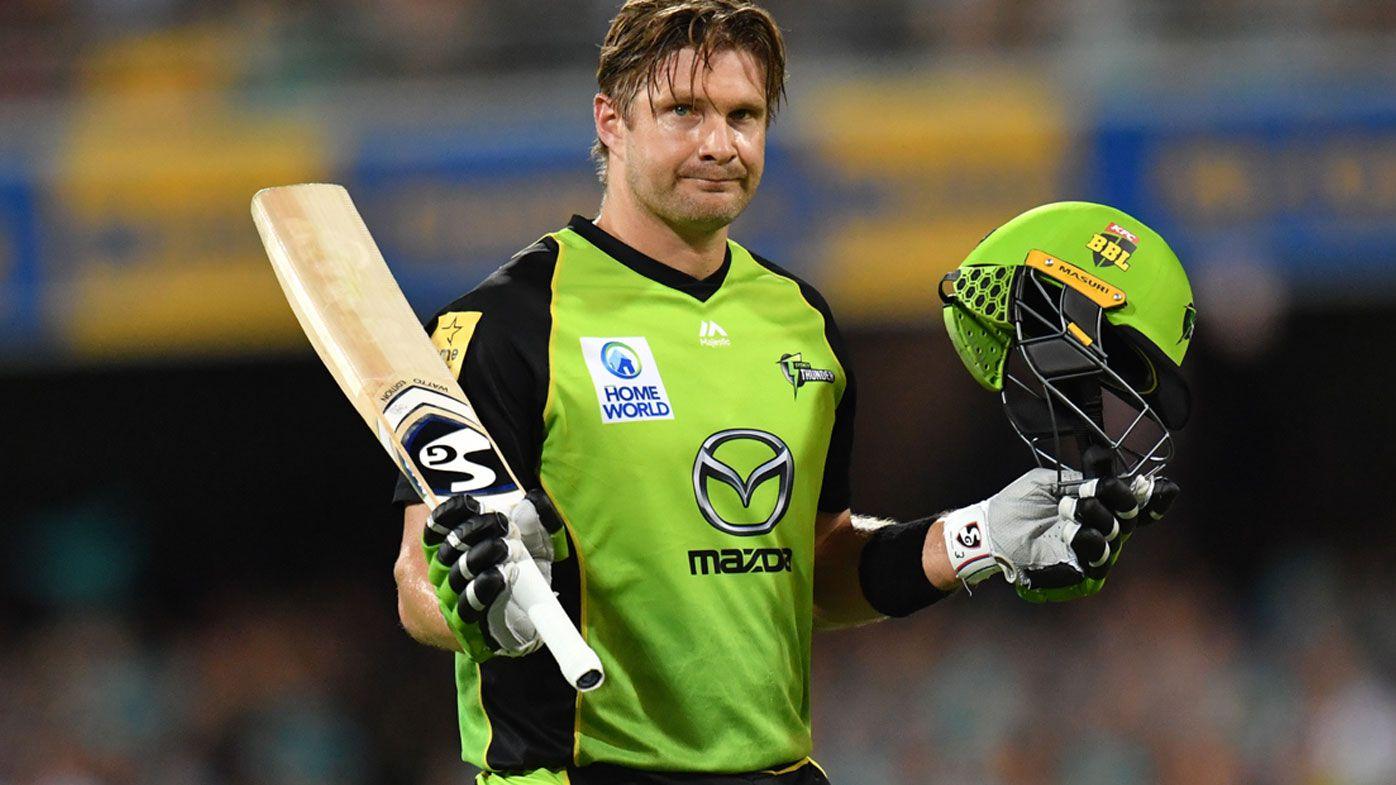 Cricket: Shane Watson calls time on Sydney Thunder, BBL career