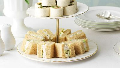 "Recipe: <a href=""https://kitchen.nine.com.au/2016/05/16/12/08/chicken-and-almond-finger-sandwiches"" target=""_top"">Chicken and almond finger sandwiches</a>"