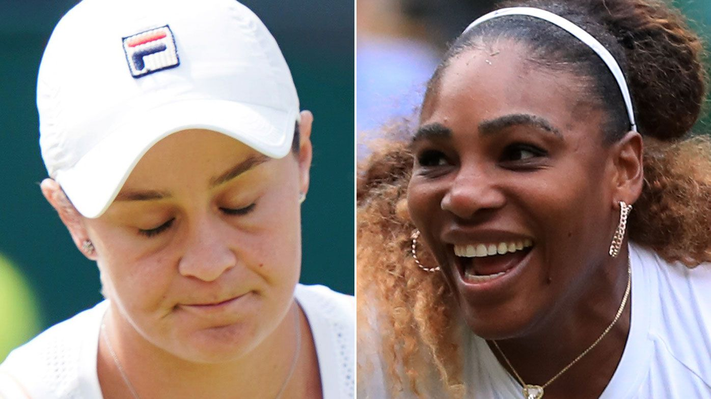 Why Serena Williams is laughing at Australia after Ash Barty's Wimbledon exit
