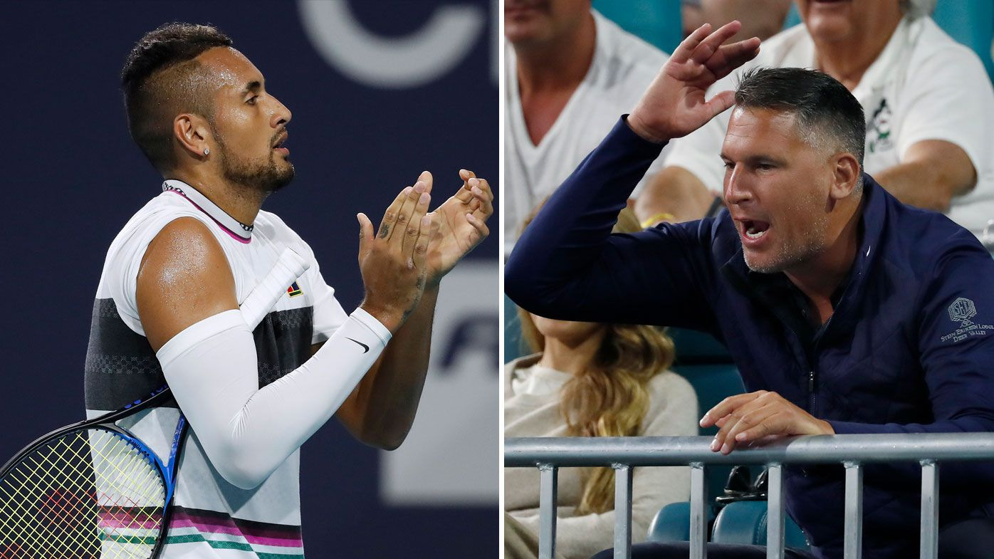 Kyrgios stuns with controversial serves before verbal battle with fan