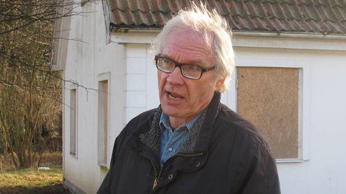 Swedish artist Lars Vilks speaks during an interview in 2015