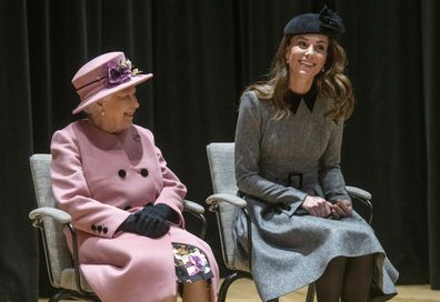 Queen Elizabeth and Kate Middleton share a blanket