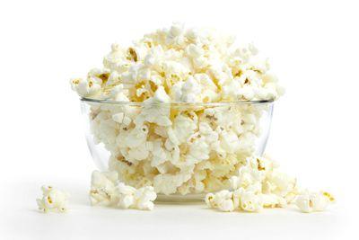 Air-popped popcorn: 1 cup has 6g carbs, 1g fibre, 31 calories