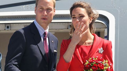 "Duchess Kate and Prince William in ""terrifying"" plane scare"