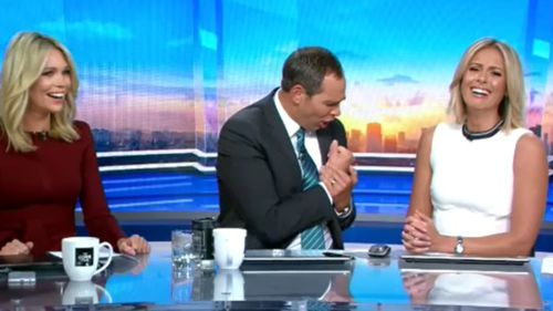 Ragless had the TODAY Show desk in stitches. (TODAY Show)