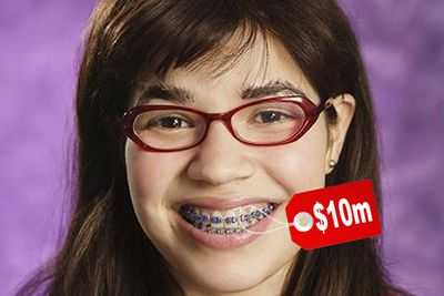 """Trust us, her teeth look a lot nicer without the braces! The <i>Ugly Betty</i> star had her gnashers covered for $10,000,000 after she scored a contract with a teeth whitening brand. """"It's very flattering to have my smile insured for $10 million,"""" she said. """"It's not something that I ever imagined happening.""""<br/><br/>"""