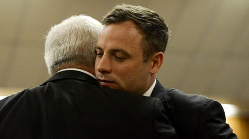 The final moments of freedom for Oscar Pistorius. (AAP)