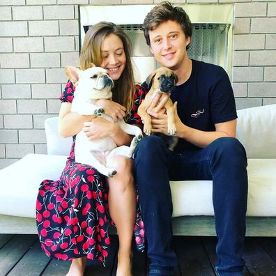 Billie Lourd and Austen Rydell.