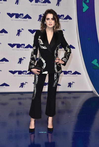 Laura Marano in Barbara Buiat the 2017 MTV VMAs in LA, August 27.