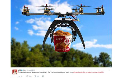 Kiwi man picks up KFC order via a drone and mankind should just give up now