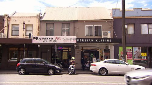 The unit was above a Persian restaurant on Newtown's busy King Street. (9NEWS)