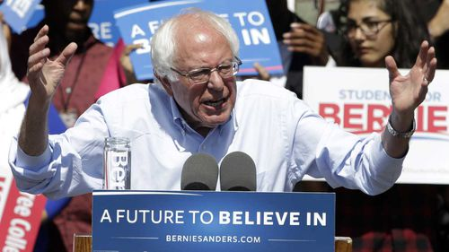 "The ""system is rigged"" against Bernie Sanders, according to Donald Trump. (AAP)"