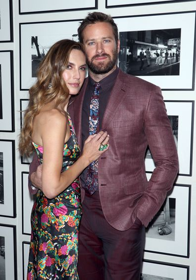 Elizabeth Chambers and Armie Hammer, Hotel Mumbai, afterparty 2019