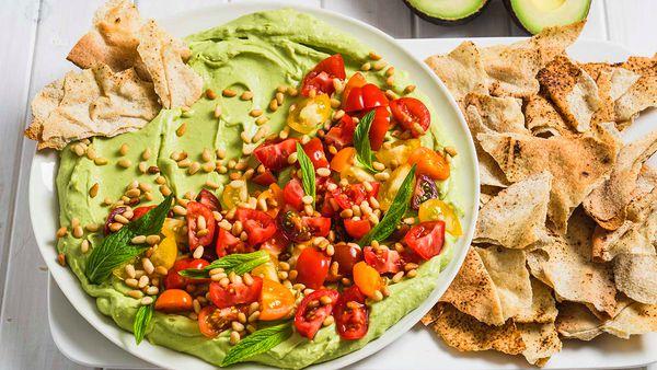 Guacamole platter