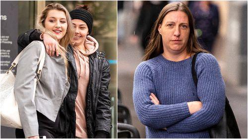 Caris Underwood (far left) and Amanda Warren have been spared jail. (AAP)