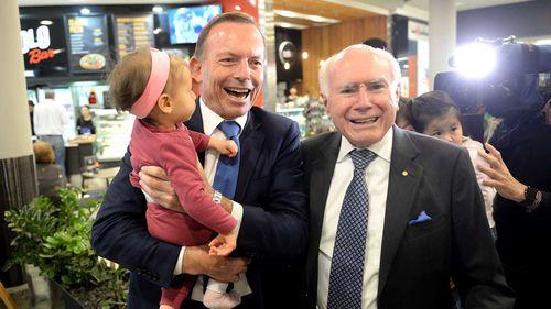 Tony Abbott campaigning with John Howard.
