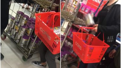 Frenzied shoppers stuff baskets with valuable baby formula